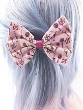 Sailor Moon Pink Fabric Hair Bow Moon Stick Kawaii Sailor Scouts Pastel Wands