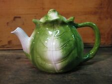 Teapot - Cabbage Decorative w / lid - Garden Collectible