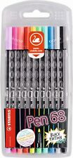 STABILO Pen 68 black edition wallet of 10 assorted colours