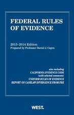 Federal Rules of Evidence, 2013-2014 with Evidence Map (Selected Statutes) by Da