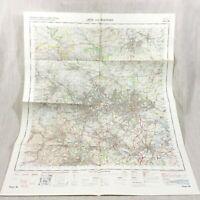 1969 Vintage Militare Mappa Di Leeds Bradford Harrogate Wakefield Halifax Batley