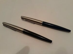 Vtg Parker 45 Fountain Pen Lot of 2 Black
