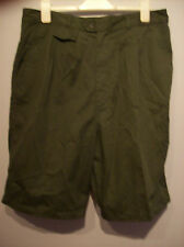 Shorts Mens Green Formal Shorts Classic Size 38 With Adjustable Waist Straps New