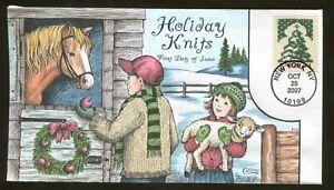 2007 New York - Holiday Knits - Christmas Tree - Collins FDC