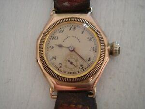 ROLEX OCTAGONAL 9ct gold vintage ( Glasgow 1926 )