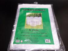Funda protectora Sillas de jardín Mesa Lona Cobertor Muebles Juego 5 (F110)