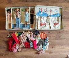 Vintage Mattel Barbie & Midge Doll Case Bubblecut Ken Clothes Lot