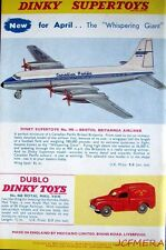 1959 Dinky Toys ADVERT 'Royal Mail Van' 'Bristol Britannia Airliner' - Print AD