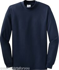 NEW Port & Company by Hanes Men's 100% Cotton Mock Turtleneck S-4XL