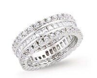 Wedding Ring Wedding Band Platinum Plated Sterling Silver Wedding Ring