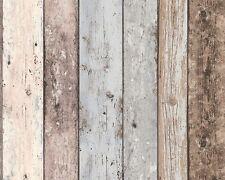 NUOVO legno carta da parati in tessuto non tessuto marrone blu NEW INGHILTERRA