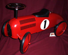 Metal Toy Ride on Racing Car  for kids 1 - 4 years. RETRO.  Ex.demo model