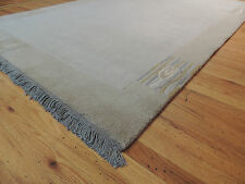 Lovely Nepali solid neutral tone Modern Oriental Area Rug  6 x 9 Blue/Gray