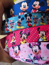 1 m de Minnie Mouse Caractère 22 mm Gros-Grain Ruban pour fabrication carte /& BOWS
