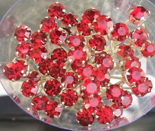 6 Wedding Prom Crystal  Burgundy Red Diamante Hair Pins Clips Grips