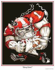 "University of Georgia Bulldogs Football Dave Helwig ""Dawg Gone"" art Aaron Murray"