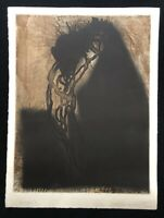 Michael Morgner, Angst, Aquatintaradierung, 1993, handsigniert datiert