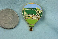 HOT AIR BALLOON LAPEL PIN WITH WILD ANIMALS