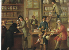 """+PC-Postcard-""""The Pharmacy"""" ...with Group of People at Work-- (B436)"""