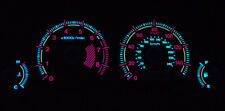 Jdm Silver Face Reverse Glow Gauge Overlay For 2001-2002 Honda Civic Manual Mt