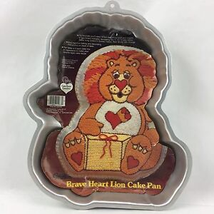 Vintage 80s Wilton Care Bear Cousins Brave Heart Lion Cake Pan Birthday Mold Vtg