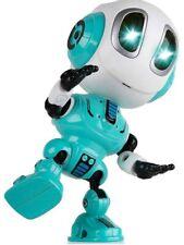 NEW TALKING POSABLE SMART MINI ROBOT BODY KIDS TOYS STEM DURABLE DIE-CAST Blue