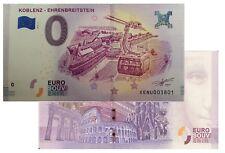 Koblenz - Ehrenbreitstein 2018-2 Null Euro Souvenirschein|€0 Euro Schein
