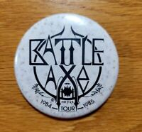 BATTLE AXE 1984-1985 Tour Logo Vintage Collectible Badge Pinback Pin Button