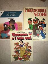 3 Libri Bambini YOGHI BIANCANEVE E I SETTE NANI LA FAMIGLIA ORSETTI