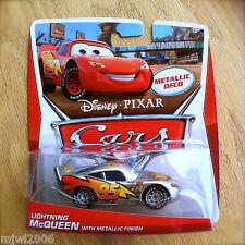 Disney PIXAR Cars LIGHTNING McQUEEN w METALLIC FINISH silver deco KMART DAY 10