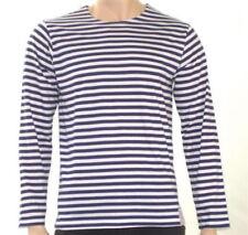Camisetas de hombre de manga larga en azul sin marca
