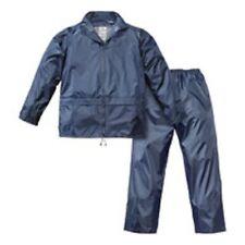 Completo impermeabile giacca pantalone nylon brixo anti pioggia blu L 354093