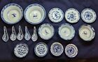 19c. Qing Dyn Blue And White Jingdezhen Chinese Porcelain Group Bowls Spoons