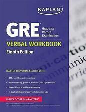 Kaplan GRE Verbal Workbook Test Prep (Eighth Edition, 2013, Paperback) KAPLAN
