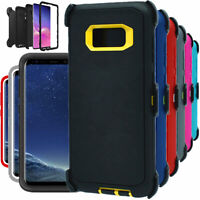 For Samsung Galaxy S8 S8+Plus Shockproof Hard Case Clip Fits Otterbox Defender