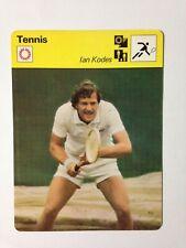 CARTE EDITIONS RENCONTRE 1977 / TENNIS - IAN KODES