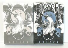 Lot 2 Deck BLUE&SILVER Anicca Bicycle Metallic ink Playing Cards Card Experiment