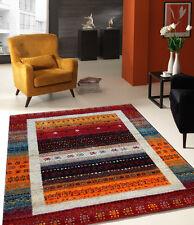 Teppich Wohnzimmerteppich Designer Modern Kurzflor Teppich Ethno_814 110-Red