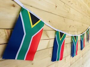 🇿🇦South African National FLAG Bunting Sport Events Polyester 32 Flag 8m