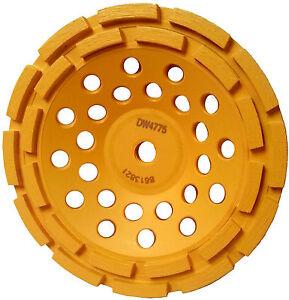 DEWALT 7 in. Double Row Diamond Cup Grinding Wheel DW4775