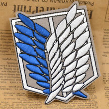 Ainme Attack on Titan Scouting Legion Recon Corps Badge Patch Sewing Embroidery