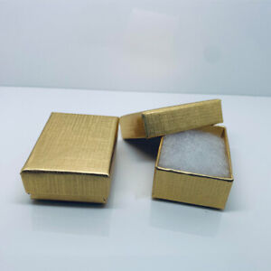 Gold Gift Box Earrings Charms Small Present Gift Jewellery Wholesale Bulk Buy