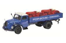 "Schuco Magirus-Deutz s6500 ""porsche-diesel"" + 2 porsche pièces de carrosserie 1:43"