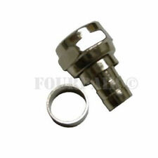 50 Pack Lot - RG59 Coax Cable F-Type 2pc Crimp-On Connector Plug CCTV DVR Male
