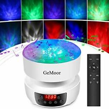 GeMoor Ocean Wave Projector, Night Light, Projection Lamp for Adults and Kids