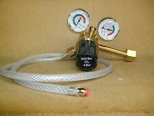 Co2 Single stage 2 Gauge Mig Welder Regulator c/w adaptor hose for pub cylinder