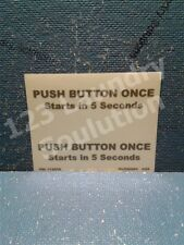 Dryer Decal For Adc Push Button Once Starts In 5 Seconds 114058 Ml090083 Ih