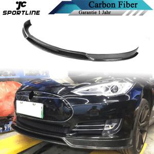 Carbon Spoilerlippe Front Stoßstange Spoilerschwert für Tesla Model S 2012-2015