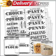 110 Labels Healthy Ingredients Food Jar Pantry Label Sticker Water Resistant