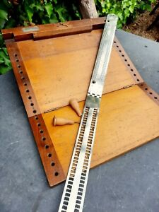 ❤ Rare Antique (C1899) Stainsby Wayne Braille Writer Wooden Folding Board RNIB👌
